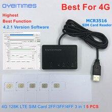 Считыватель sim карт OYEITIMES MCR3516 + 5 шт. 2FF/3FF/4FF программируемые sim карты пустые LTE WCDMA GSM USIM 4G карты + 4.2.1 Ver. Программное обеспечение
