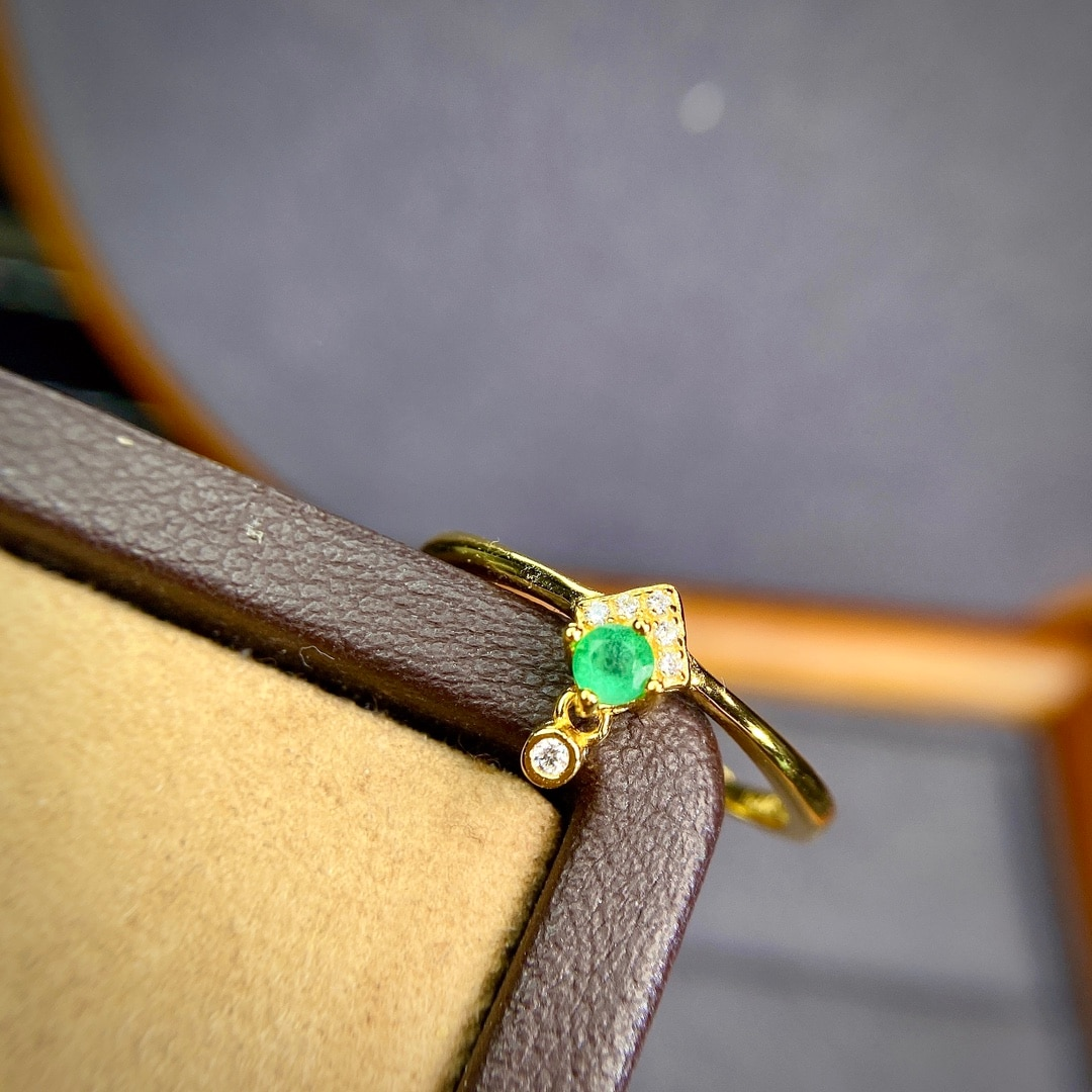 Shilovem 925 فضة ريال الطبيعية الزمرد خواتم غرامة مجوهرات النساء العصرية الزفاف مفتوحة بالجملة 3 مللي متر jcj0303589agml