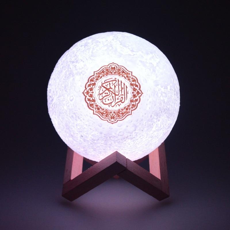 Bluetooth Quran Speaker LED Touch Night Light Lamp Islamic Gift Mp3 Koran Player Veilleuse Coranique