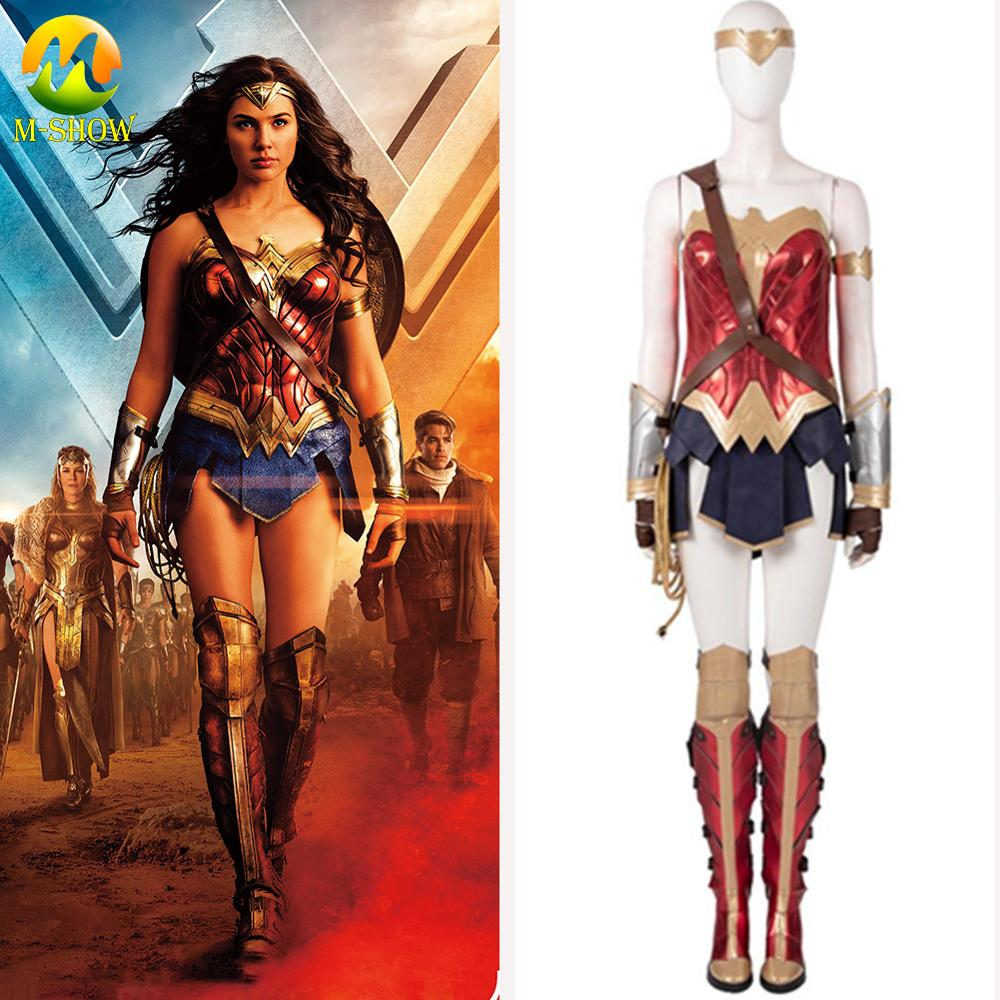 2019 disfraz de Mujer Maravilla Cosplay vestido de princesa Diana Cosplay traje de superhéroe de Halloween Cosplay Mujer Maravilla corsé vestido