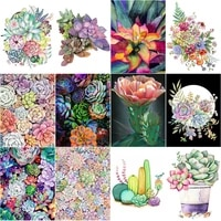 succulent diamond painting plant mosaic paint 5d embroidery diamond nordic wall decor adults arts and crafst diy handmade