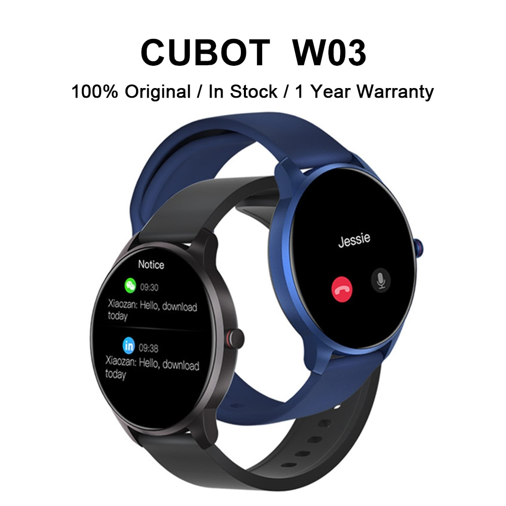 CUBOT W03 Men Women Smartwatch IP68 Waterproof Ultra-light Heart Rate Monitoring Couples Sport Smart