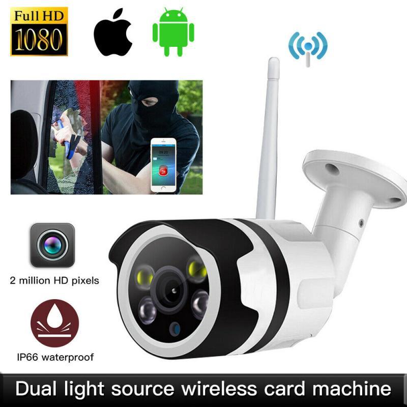 1080P كاميرا WIFI IP اللاسلكي بالنيابة الإنسان كشف كاميرا لا سلكية H.264 P2P ONVIF الصوت CCTV في الهواء الطلق الأمن IR ليلة شبكة كاميرا