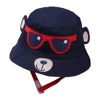 baby boys girls hats bucket hats caps baby accessories spring toddler kids cartoon cotton printed reversible sun headwear