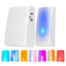 Wireless Doorbell 7 Color Lights Flash Music Doorbells Home Wireless Elderly Deaf Men Door Bell Rece