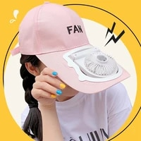 fan cap summer fashion outdoor foldable rechargeable cap quiet and comfortable outdoor portable fan hat usb rechargeable