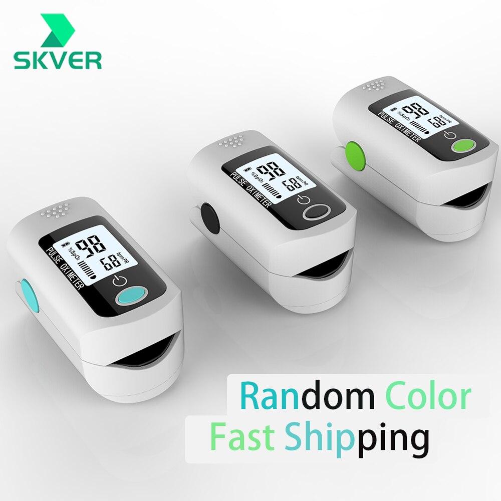 Household Health Digital Finger Oximeter Fingertip Pulse Oximeters PR Finger Blood Oxygen SPO2 Heart Rate Monitor Meter Battery