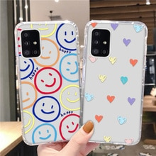 Funny Smiley Silicone Case For Samsung A32 A22 A11 A82 A51 A71 A42 A52 A72 Soft Bumper A12 A31 A41 A01 A02 A21S A50S A30S Cover