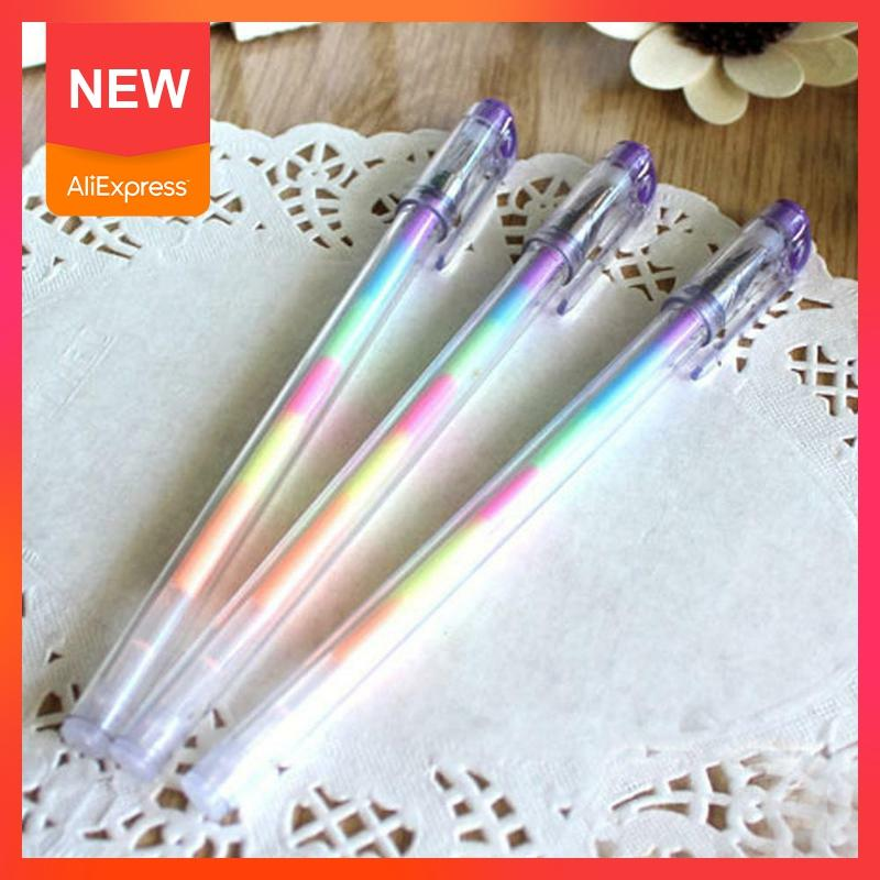 1pc 6 Farbe In 1 DIY Regenbogen Stift Multi Farbe Refill Textmarker Farbe Stifte Graffiti Malerei Stift Fluoreszierende Z1R0