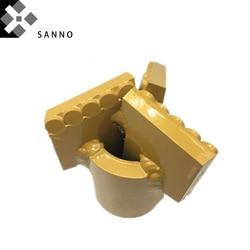 Finger bit lange tragen 3 flügel ziehen bit 75mm-500mm kegel bergbau core bohren kompakte bit PCD bohrer für 50 bohren rohr