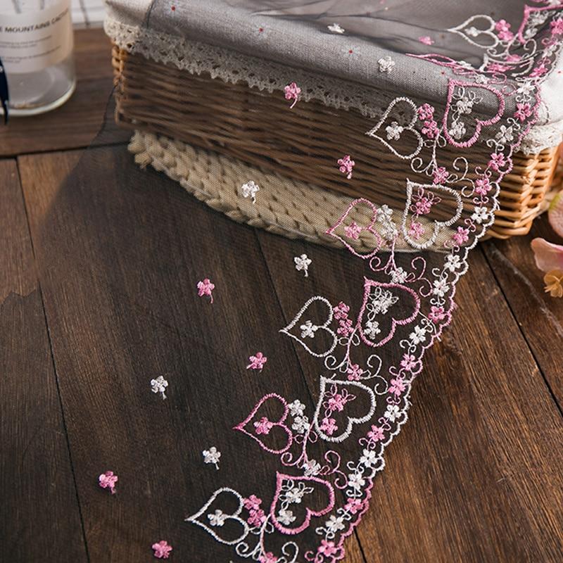 Cinta de encaje de alta calidad, 2 yardas/lote de 20mm de ancho para decoración de costura, artesanía, bordado de flores, tul, tela de encaje, embellecedora, new2020