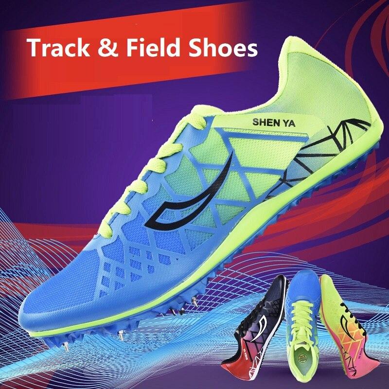 Zapatos de pista y campo para niños, zapatos de clavos con punta, zapatillas deportivas antideslizantes transpirables suaves para estudiantes, niños y niñas