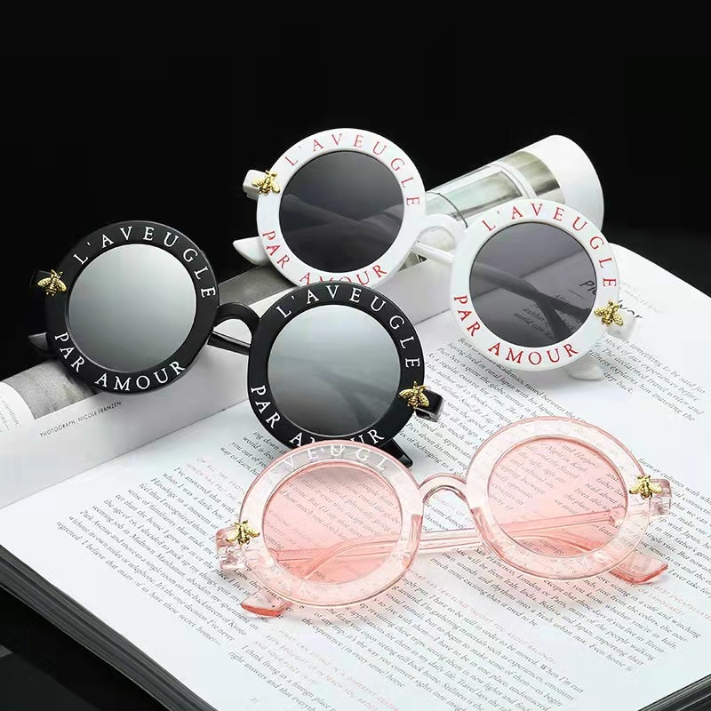 Солнцезащитные очки WarBlade женские круглые, роскошные брендовые дизайнерские модные солнечные очки в ретро стиле с пчелиной оправой