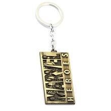 Neue Heiße Spinne mann Marvel Hero Logo Schlüsselbund Schlüsselbund Eisen Mann Tag Anhänger Keychain Avengers Thor Hammer Mode Schlüssel Ketten männer