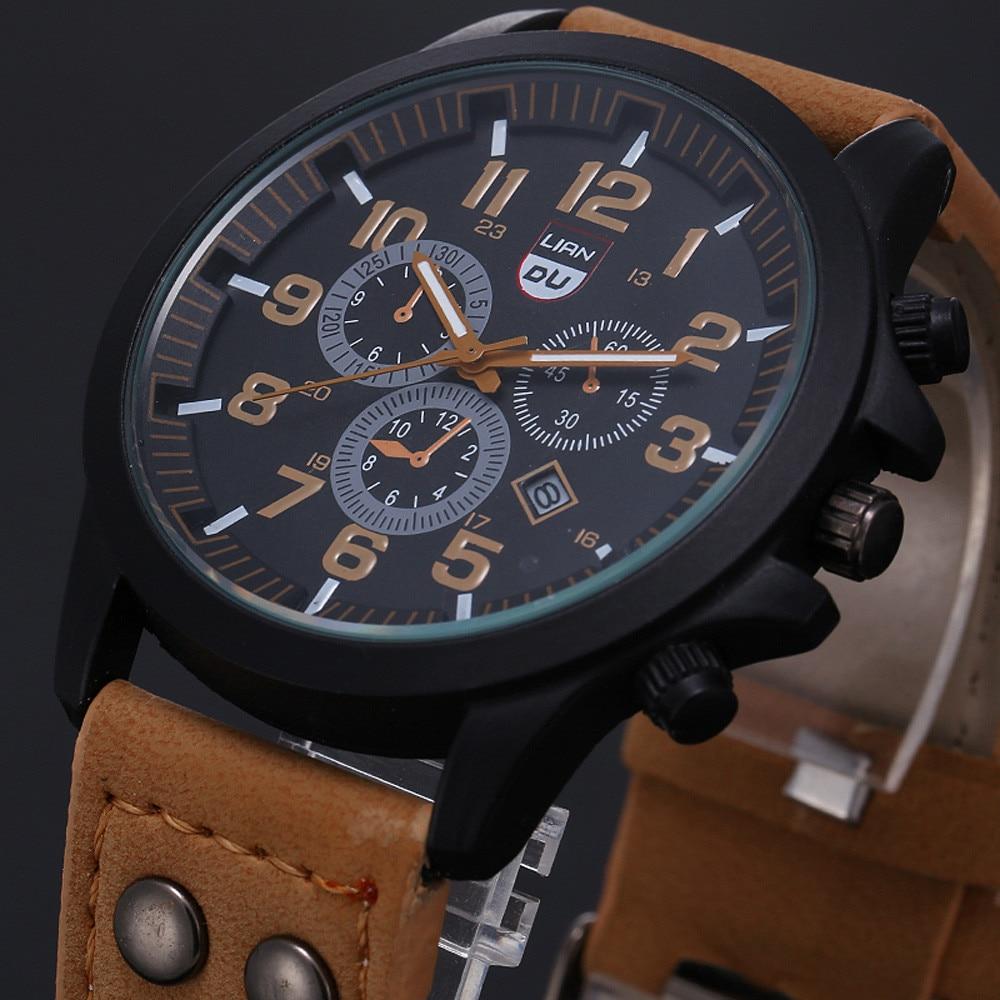 AliExpress - 2021 Vintage Classic Watch Men Watches Stainless Steel Waterproof Date Leather Strap Sport Quartz Army relogio masculino reloj