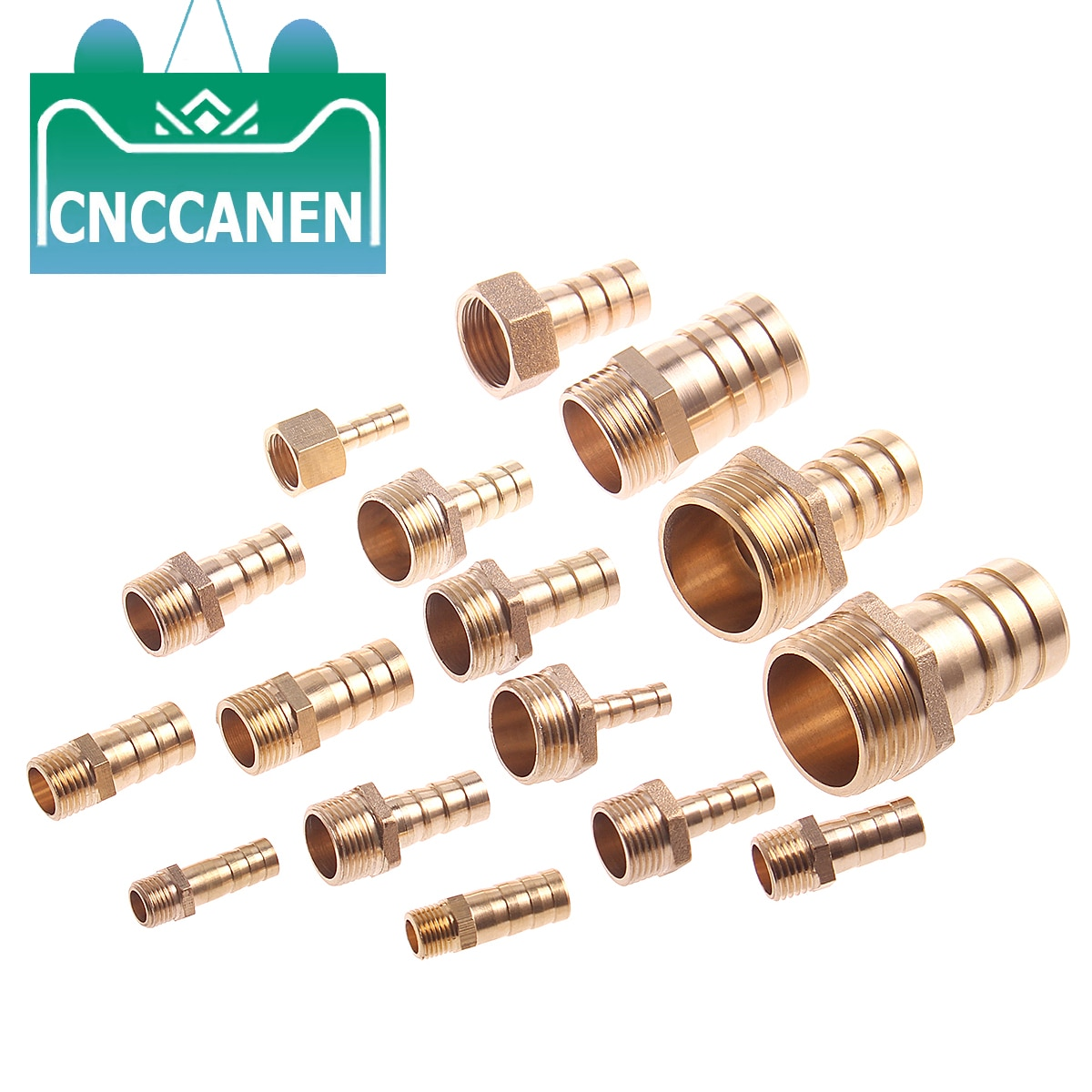 "Lengüeta de manguera de cola 6/8/10/12/14/16/19/25MM conector de tuberías de latón 1/8 ""1/4"" 3/8 ""1/2"" 1 ""BSP conector macho adaptador acoplador de cobre"