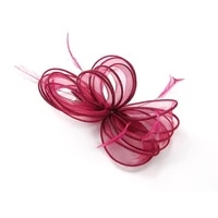 new headwear women fascinator hair accessory wine red flower hair clip for women wedding barrette childrens hair decorations