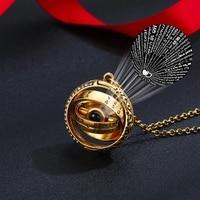 Ожерелье с подвеской-проектором астрономический шар открытое ожерелье с кулоном женское, чокер с надписью «I Love You» на 100 языке, подарок на де...