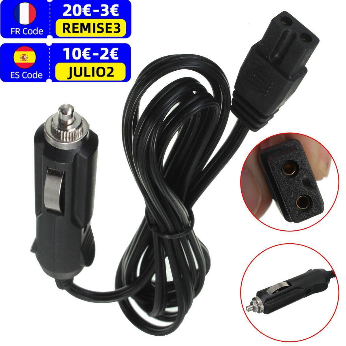 12V 2m DC Lead Cable Plug Wire Bumper Replacement Car Cooler Cool Box Mini Fridge Cigar Lighter Plug
