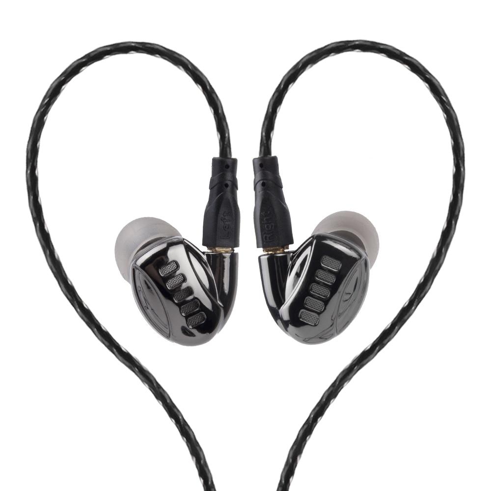 PIZEN auriculares de Metal 2DD + 2BA Knowles Super bass PK ie80 ie80s desmontable con MMCX cable deporte earhooks auriculares DM5 DM6 EN900