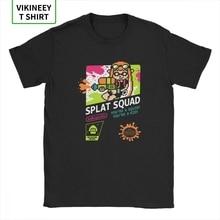 Splat oddział Splatoon mężczyźni koszulki z krótkim rękawem atrament facetów gra kalmary zabawna koszulka koszula z krótkim rękawem wycięcie pod szyją t-shirty 100% bawełna bluzka w rozmiarze Plus Size