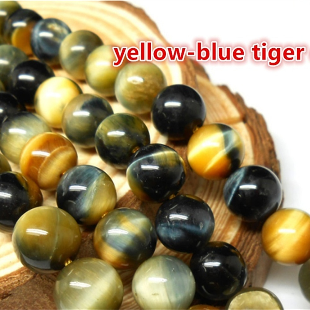 Wholesale AAA Natural Tiger eye Stone Beads 2/3/4/6/8/10/12mm Smooth Round DIY Bracelet Necklace Loose Beads For Jewelry Making