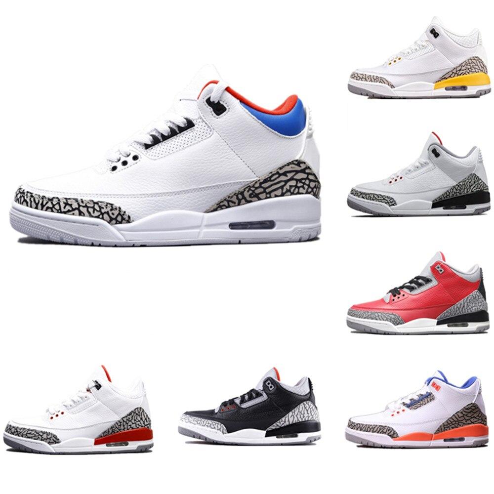 Zapatillas de deporte Zapatillas de baloncesto Retro 3 para hombre y calzado...