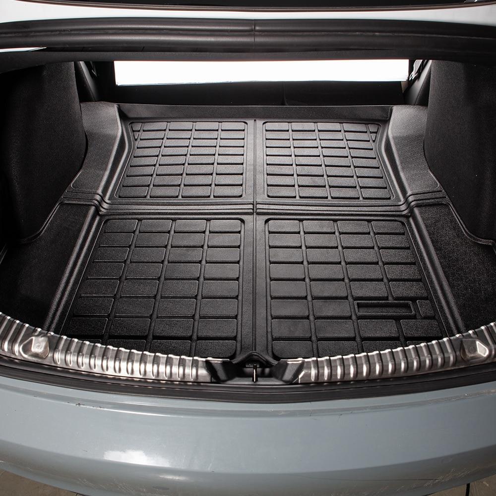 TEY New Model3 Trunk Mats For Tesla Model 3 2021 Accessories Customized Car Rear Trunk Storage Mat Cargo Tray Waterproof Pads enlarge