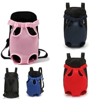 pet dog front chest backpack mesh outdoor travel products breathable shoulder handle bags for small dog cats chihuahua