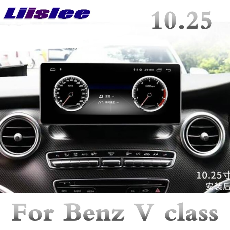 Mercedes Benz Clase V Viano MB W447 2014 ~ 2019 NTG 10,25 pulgadas Liislee coche reproductor Multimedia NAVI Radio GPS CarPlay de navegación