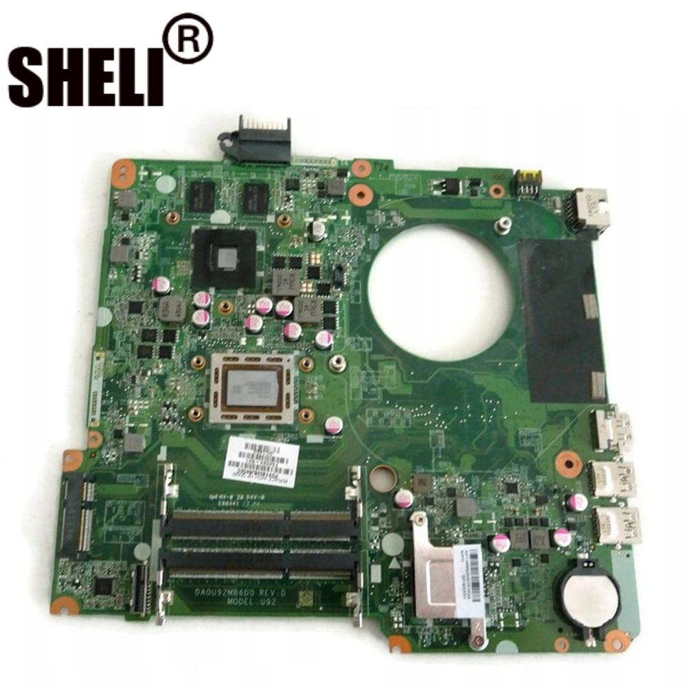 Placa base para ordenador portátil DA0U92MB6D0 de 15, 15, 15, 15, 15, N, 15Z-N100, 15Z-N200, 734824-001, 734824 A10-5745M-601, CPU, trabajo de prueba completo