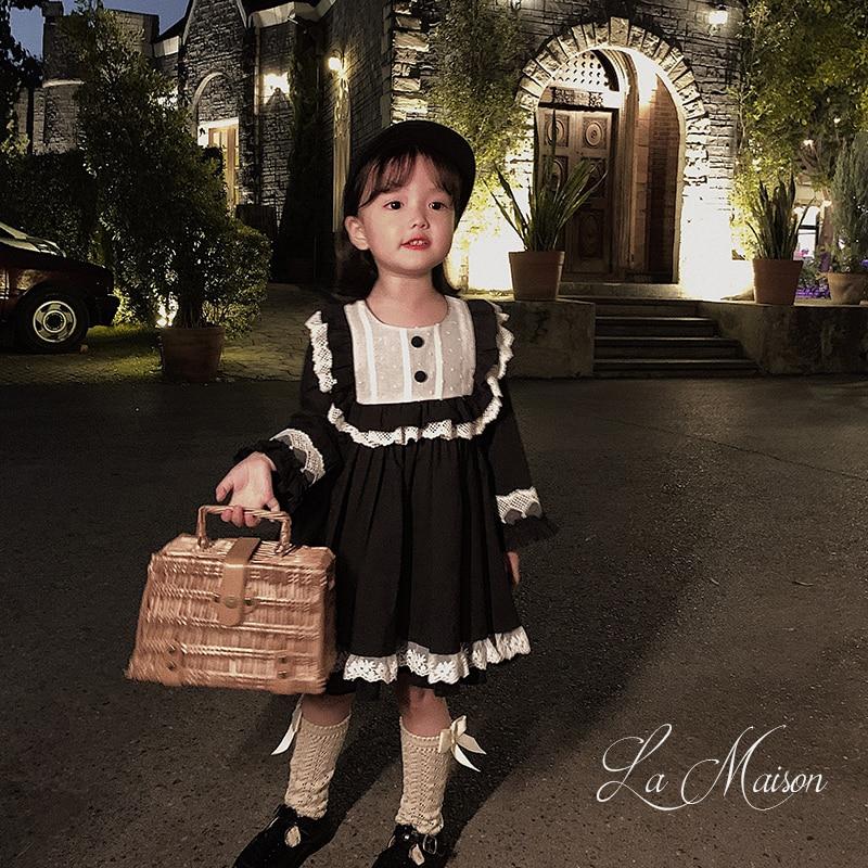 2020 spring new baby girls cotton lace Spanish court lovely dress children long sleeve comfort dress