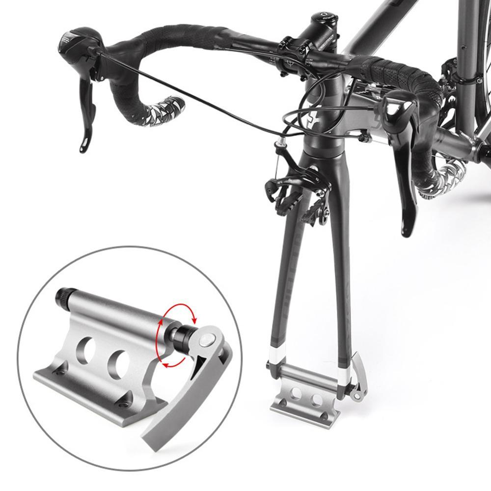 Bloqueo para bicicleta montaje de horquilla de aleación de aluminio de liberación rápida bicicleta horquilla delantera Clip fijo para camión remolque