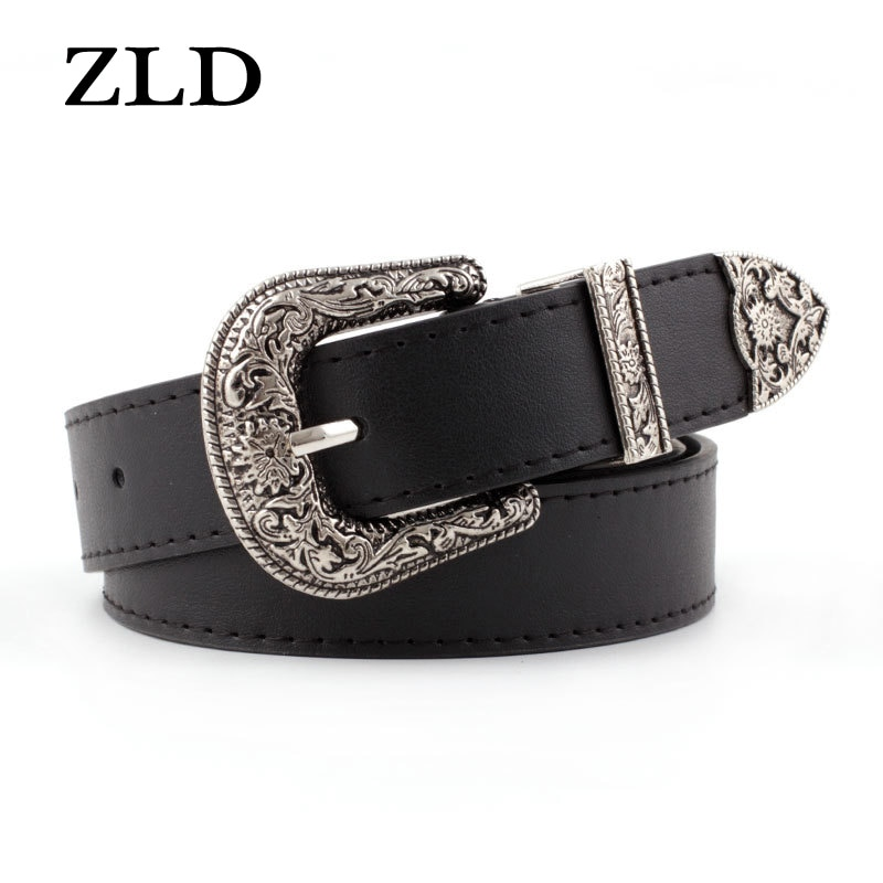 ZLD New classice ladies alloy pin buckle belt fashion High Quality vintage belts Casual jeans wild l