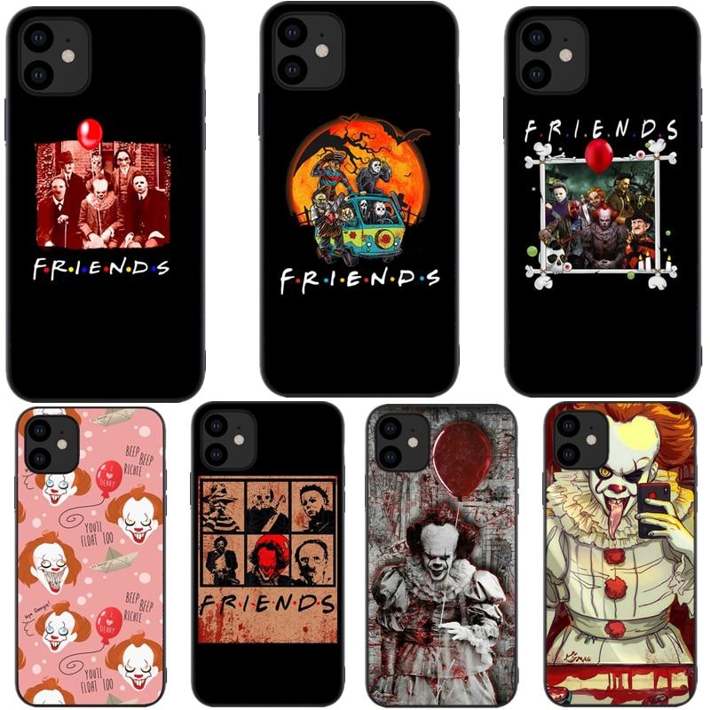 Carcasa de terror para iPhone 11 DE Friends, película espeluznante de halloween, funda de TPU suave negra para iPhone 11 Pro Max 5,8 pulgadas 6,1 pulgadas 6,5 pulgadas nuevo