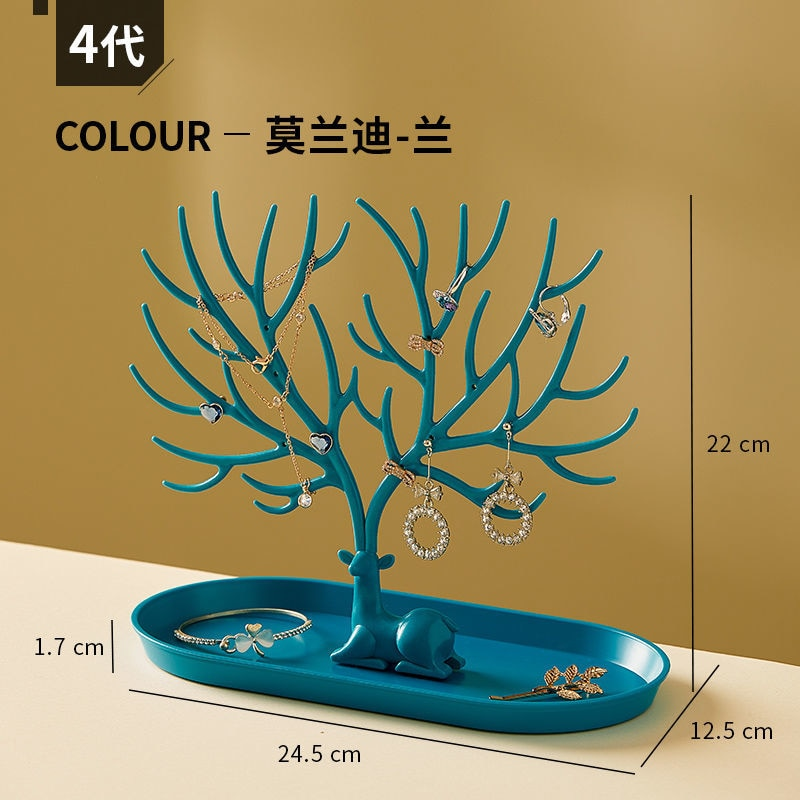 Jewelry Storage Box Antlers Earrings Bedroom Home Decoration Accessories For Living Room