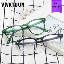 VWKTUUN Vintage Sunglasses Women Men Glasses Rivet Frame Anti Blue Light Eyeglasses Frames Men Squar