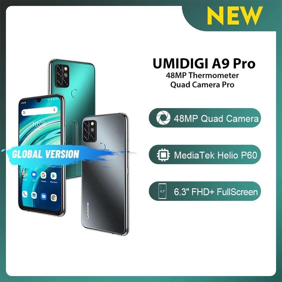 UMIDIGI A9 Pro глобальная версия смартфона 6,3 дюйма FHD + 4 Гб 64 Гб 4150 мАч Android 10 Мобильный телефон 24MP камера для селфи