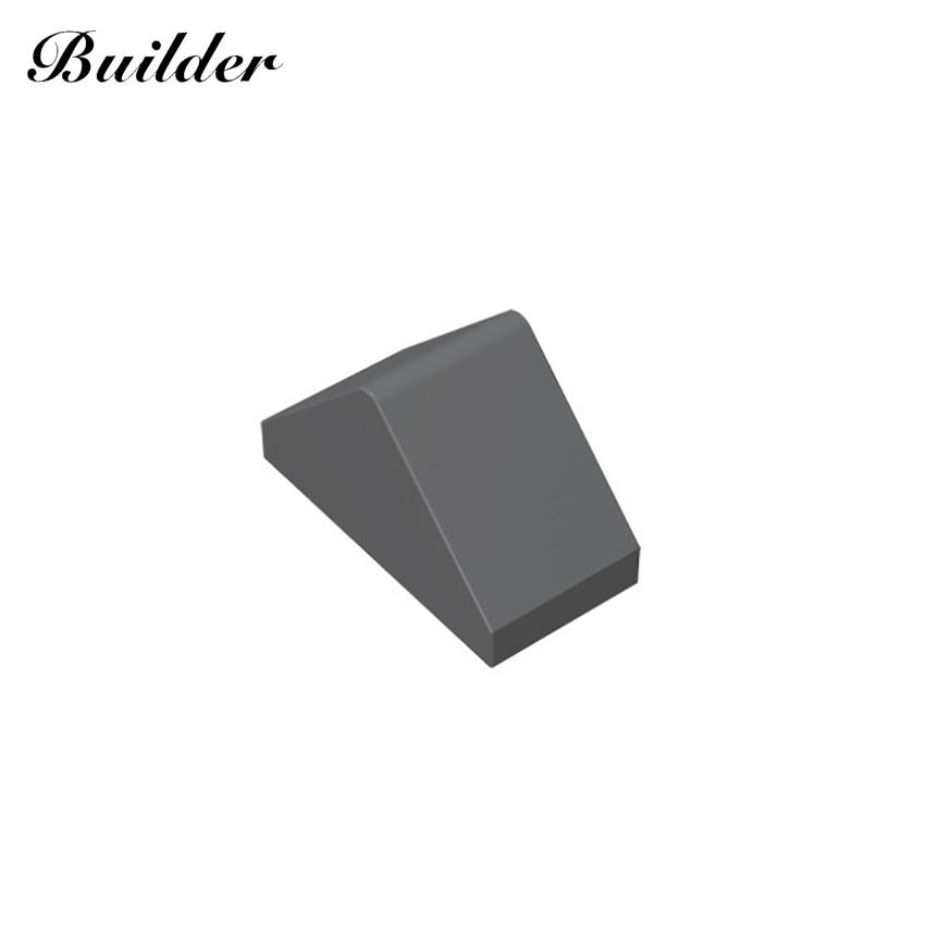 Строительные блоки 3044, склоны, кирпичи 45 °, 2x1, двойные для строительных блоков, детали «сделай сам», развивающие классические Совместимые бр...