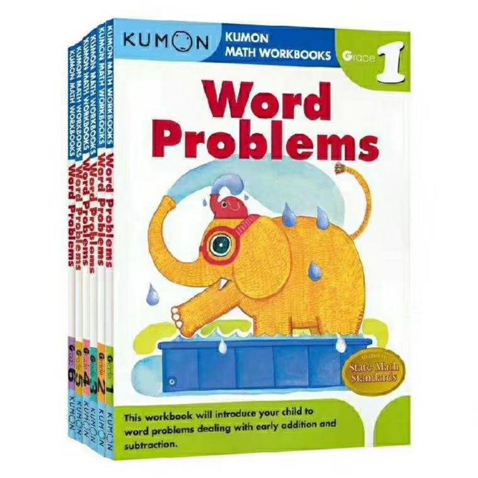 6 Books/Set Math Workbooks Word Problems English Math Problems Teaching Books