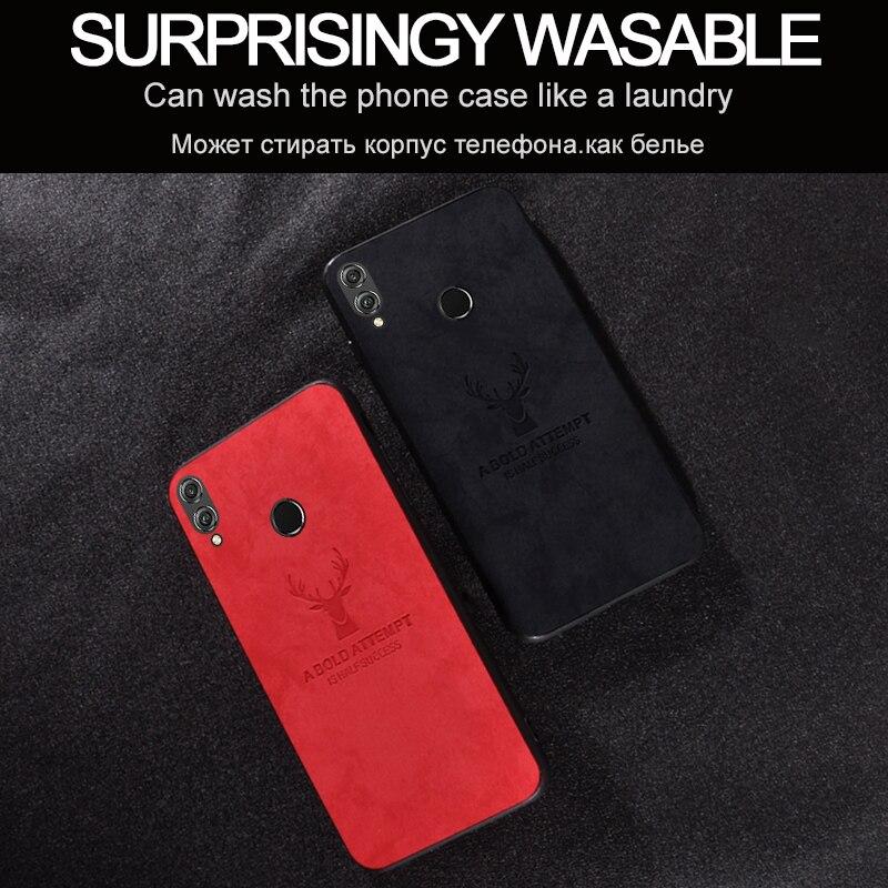 Fundas de tela de ciervo de Navidad de lujo para Huawei Honor 9X Pro, funda de tela para Honor Play 3 8C 8X Max Magic 2, fundas Capa