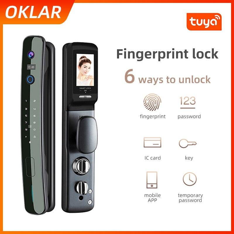 Review OKLAR Tuya Smart Lock Fingerprint Door Locks Security Electric Safety Intelligent Electronic Lock Tuya APP Mobile Phone Unlock