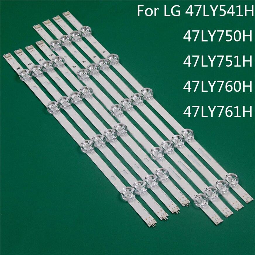 LED TV إضاءة جزء ل LG 47LY541H 47LY750H 47LY751H 47LY760H 47LY761H عمود إضاءة LED شريط إضاءة خلفي خط حاكم DRT3.0 47 A B