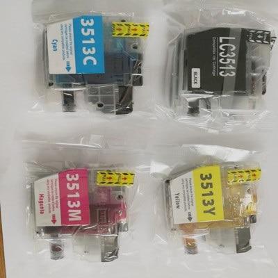 Cnlinkclr 4 pacotes substituição cartucho de tinta lc3513 lc3511 b c y m para o irmão MFC-J690DW/MFC-J890DV impressora