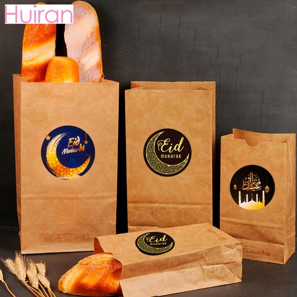 Ramadan Eid Stickers Eid Mubarak Gift Box Label Paper Bag Seal Sticker Ramadan Kareem Al-Fitr Decor IslamicMuslim Party Supplie