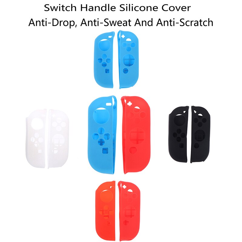 1 par de silicone caso de borracha joycon controlador gel capa aperto para nintendo switch