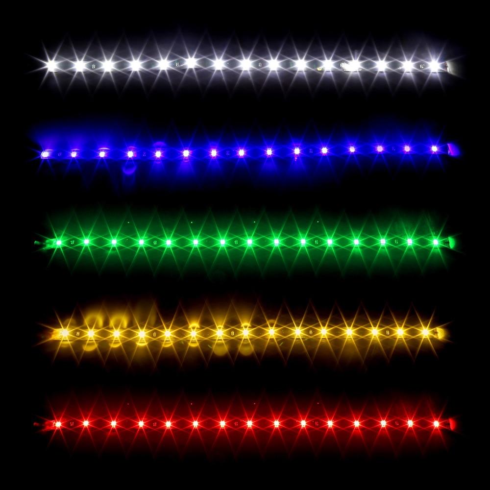 "Cool 30CM Car Flexible tira de luz LED de alta potencia 12V 11,8 ""15SMD impermeable bombilla LED diurna decorativo coche DRL bicicleta LED tira"