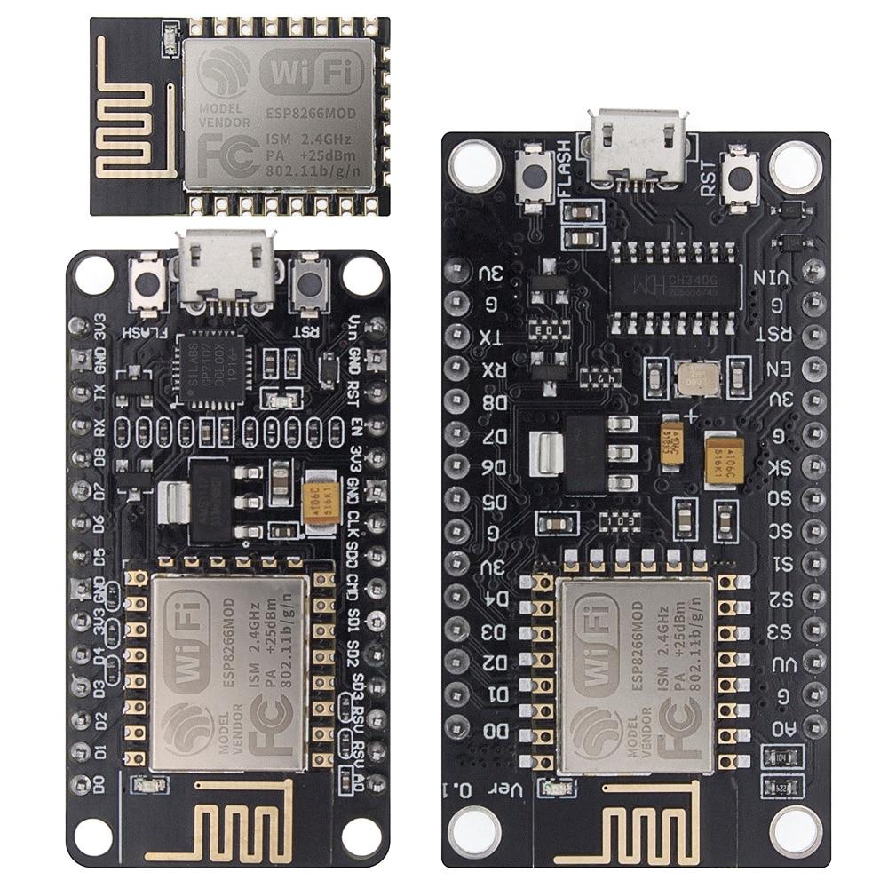 Module sans fil NodeMcu V2 V3, série CH340/CP2102 Lua, carte de développement WIFI dinternet des objets basée ESP8266 ESP-12E avec antenne