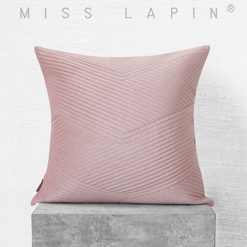 ملكة جمال لابين مصمم مبطن التطريز المخملية غطاء الوسادة غطاء وسادة رمية مزخرفة الوردي