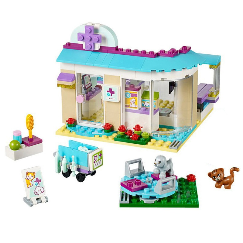 Friends Animals Hospital House compatible  Vet Clinic Construction Model Building Blocks Kid DIY Toys Gift